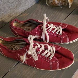 Converse One Star Dainty Ox Maroon Red Shoes